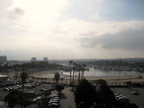view from our room on marina del rey