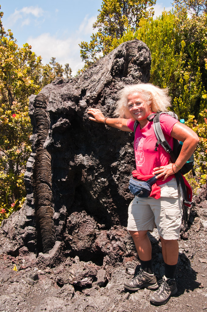Chris with a lava tree