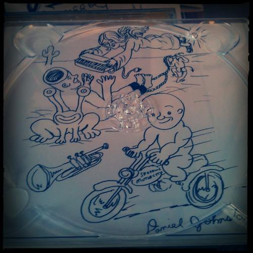 Inside of Daniel Johnston CD