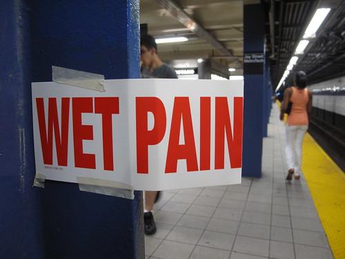 """""""WET PAINT"""" sign meme"""