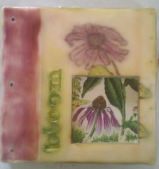 Bloom - Encaustic book cover