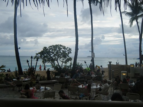 View from our table at Duke's Waikiki by cubechick