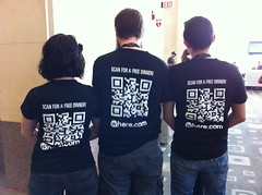 QR codes at Sxsw
