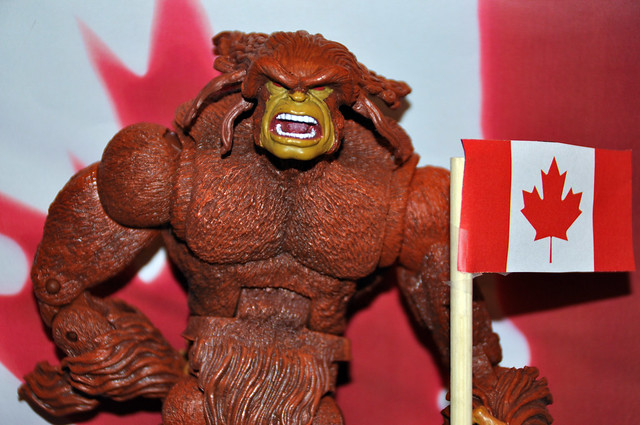 Sasquatch is one of the many proud Canadian super heroes.