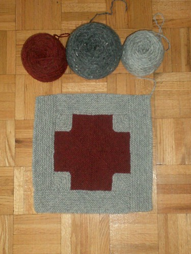 Mitered Crosses Blanket - Square 1