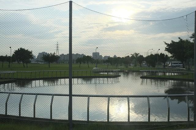 米雷刷洗後的傍晚﹣中正河濱公園