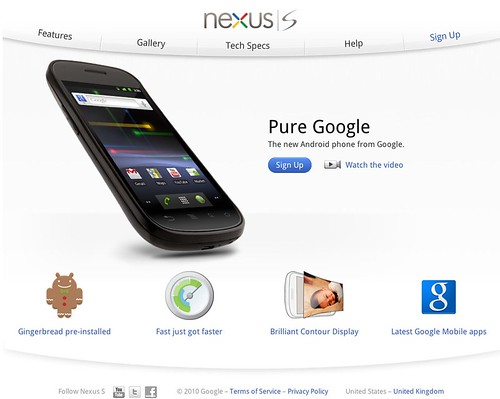 Nexus S – The new Android phone from Google