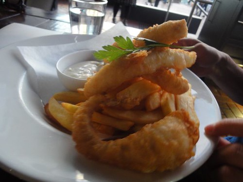 Ice Cube: Traditional crispy fried beer batter fish & chips