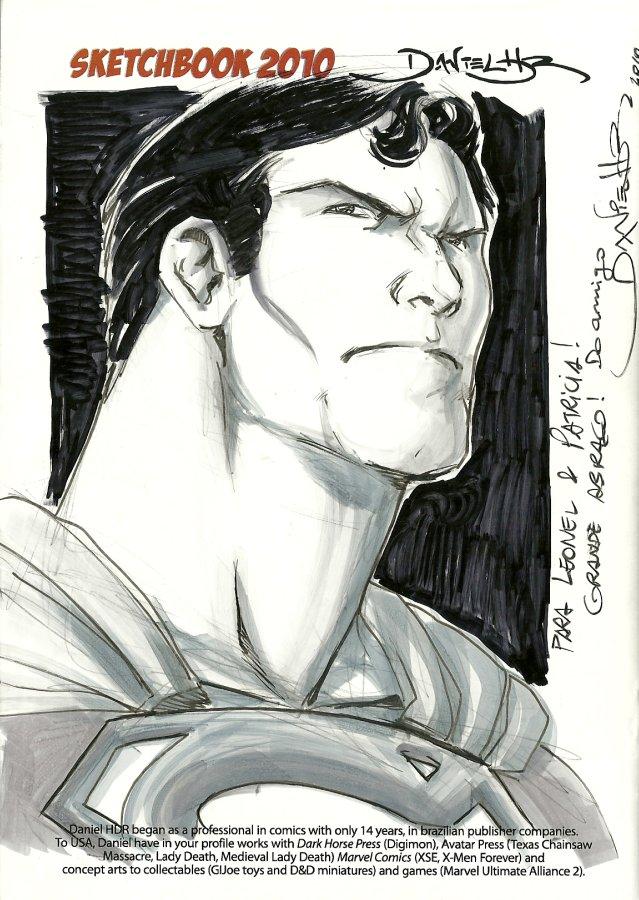 Superman headshot sketch