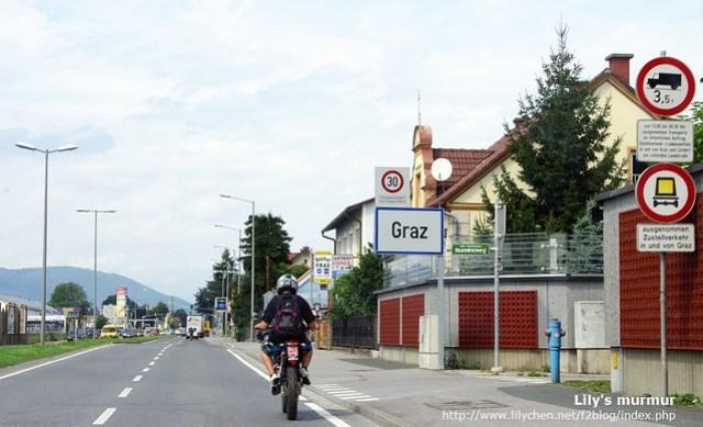 看到Graz的路牌了,表示我們即將進入Graz囉!