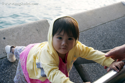 Lia in Central Star Ferry Pier, Kowloon, HK 2010