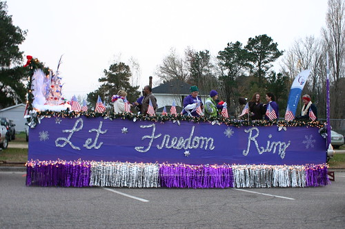 Relay for Life - Christmas Parade - Side of Float on Friday
