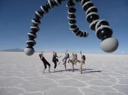 Bolivia salt flats aliens