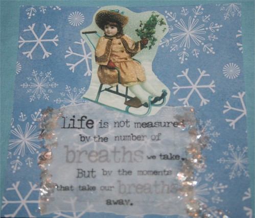 """Moments that take our breath away 4"""" x 4"""" Collage Card"""