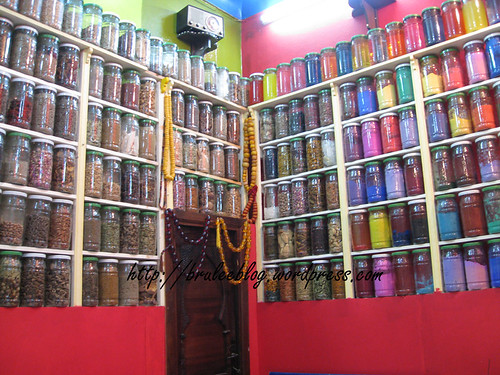 jars of medicine and herbs