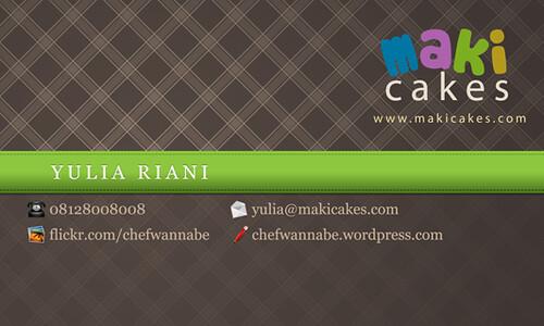 business card - Yulia Maki Cakes