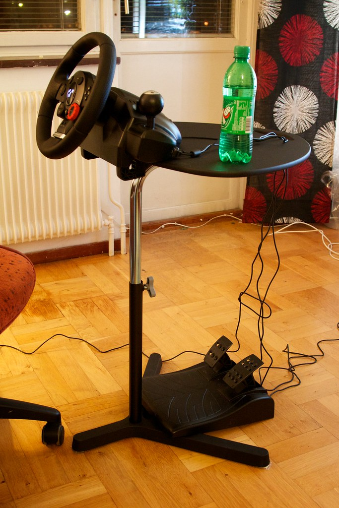 racing desk chair notre dame office daniel kennett - cheaply mounting a gaming steering wheel