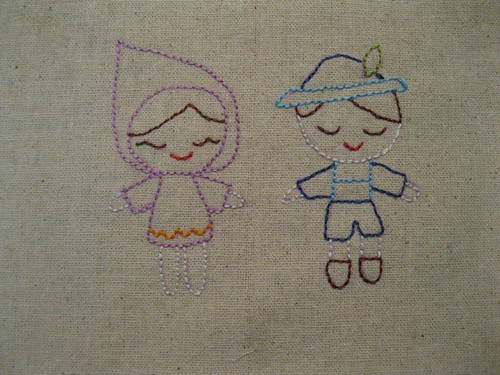 doodle stitch along week 2 (boy and girl)