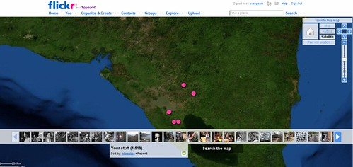 My photos on a map