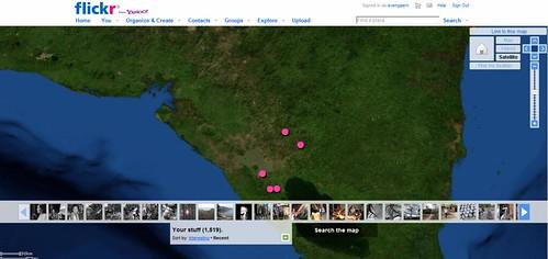 My photos on a map