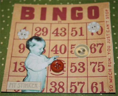"Bingo! 4"" x 4"" Collage Card"