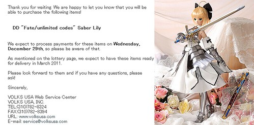 Saber Lily results announced