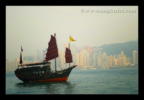 Junk in Victoria Harbor, HK 2010