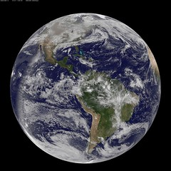 NASA GOES-13 Full Disk view of Earth December ...