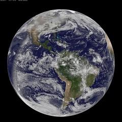 NASA GOES-13 Full Disk view of Earth December ...