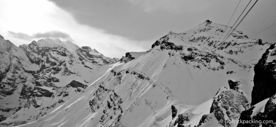 Looking back at Schilthorn