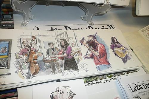 sketching Rita Hosking