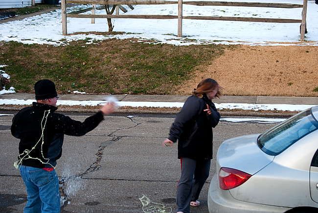 dont bring string to a snow ball fight