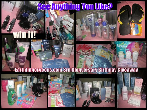 Earthlingorgeous.com 3rd Blogversary Birthday Giveaway