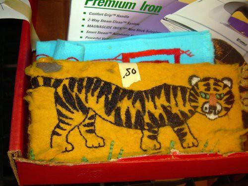 Tiger door stopper