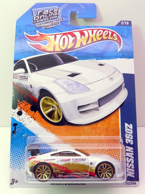 hot wheels nissan 350z white (1)