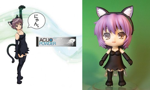 Custom Nendoroid Nagato Yuki (Neko Cosplay version)