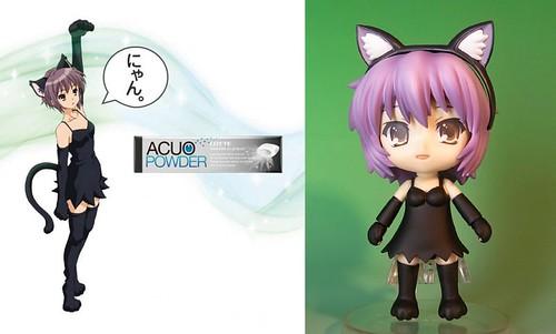 Custom Nendoroid Nagato Yuki (Neko Cosplay version)