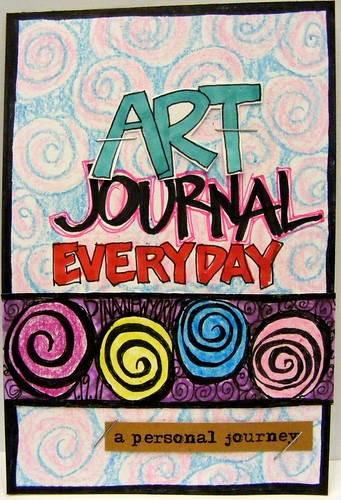 """4"""" x 6"""" first attempt at Art Journaling"""