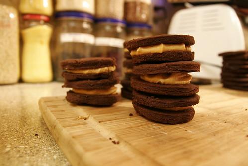 Chocolate Peanut Butter Sandwich Cookies 011