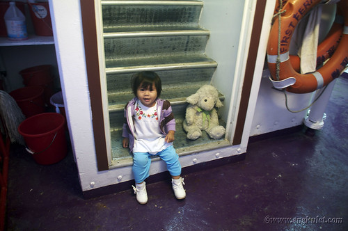 Lia in Ferry from Mui Wo to Central, HK 2010