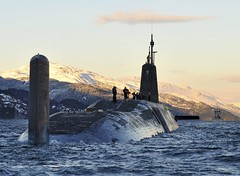 Nuclear Submarine HMS Vanguard Returns to HMNB...