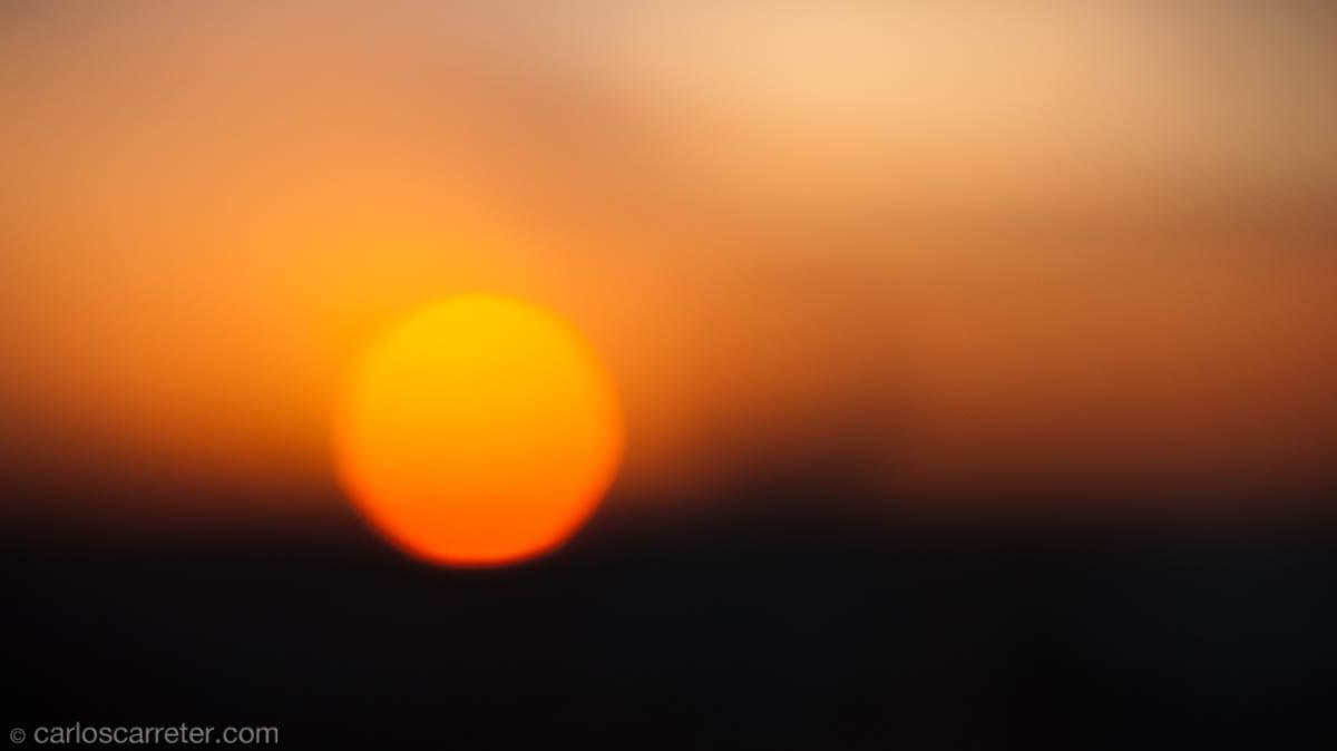 Puesta de sol desde el Círculo de Bellas Artes