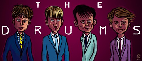 The Drums - illustration by Gilderic for Unplugged.ee