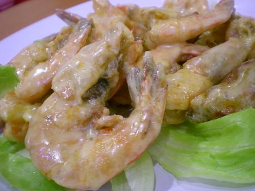 Cheese prawns