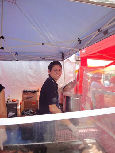 Dulwich Hill Street Fair: Alvaro in the German Sausage Hut