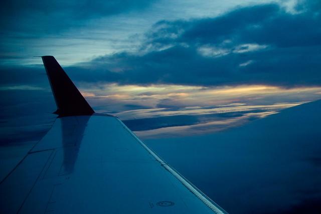 Cielo desde el avión Bilbao-Alicante
