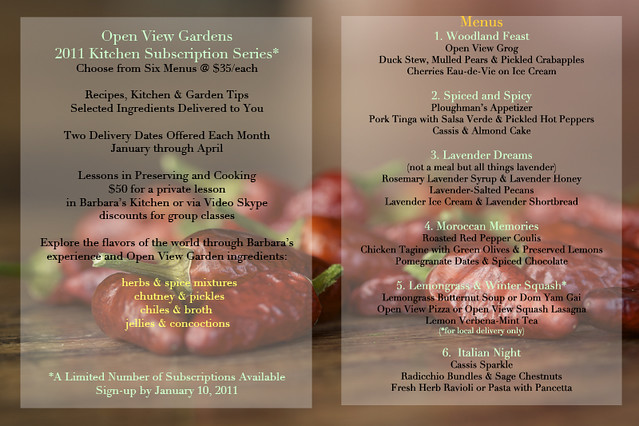 open View Gardens Subscription Series Flyer
