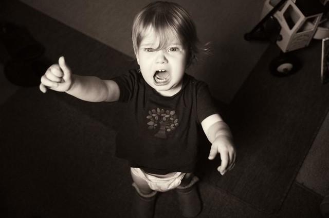 Portrait of a tantrum