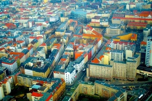 Вид с Берлинской телебашни, Берлин, Германия