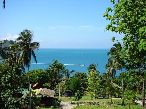Chaloklum top view, Ko Phangan
